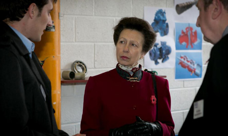 Princess Anne & Mr. Terry Newby(Site Director): With Tom Salmon, Oil & Gas Proposals Engineer